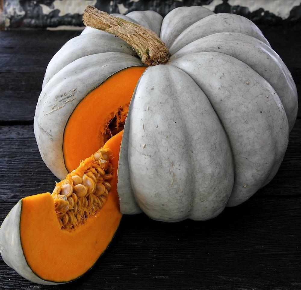 52 Types of Pumpkins to Eat, Decorate, and Display Jarrahdale Pumpkin #Pumpkin #Pumpkins #GrowPumpkins #Garden #Gardening #FallDecor #FallGarden #FallSquash #AutumnDecor #FallHarvest #Halloween