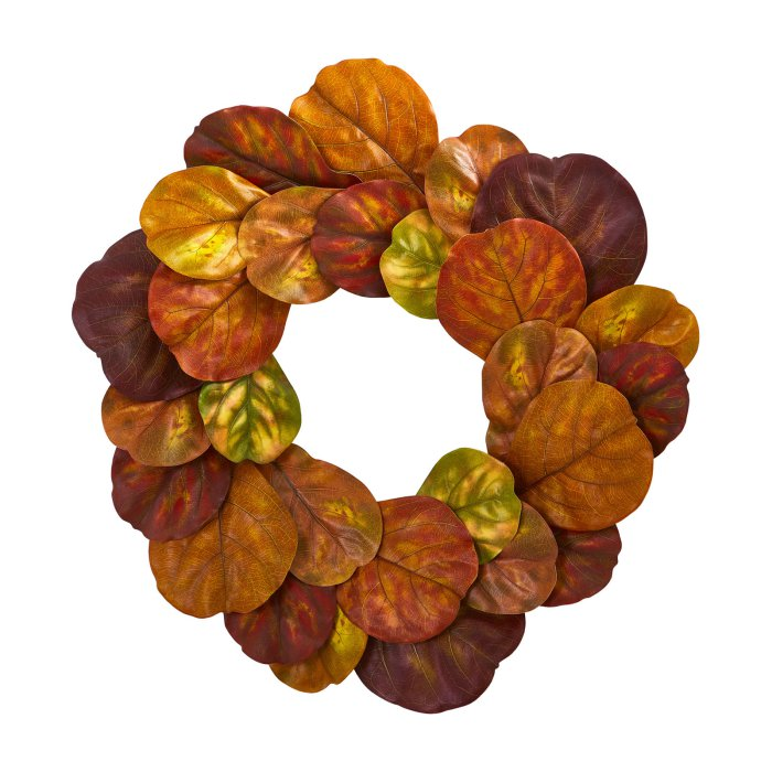 Farmhouse Fall Wreaths to Welcome Guests Fiddle Leaf Wreath #Farmhouse #FarmhouseDecor #FarmhouseWreaths #RusticWreaths #CountryLiving #FallWreaths #AutumnWreaths