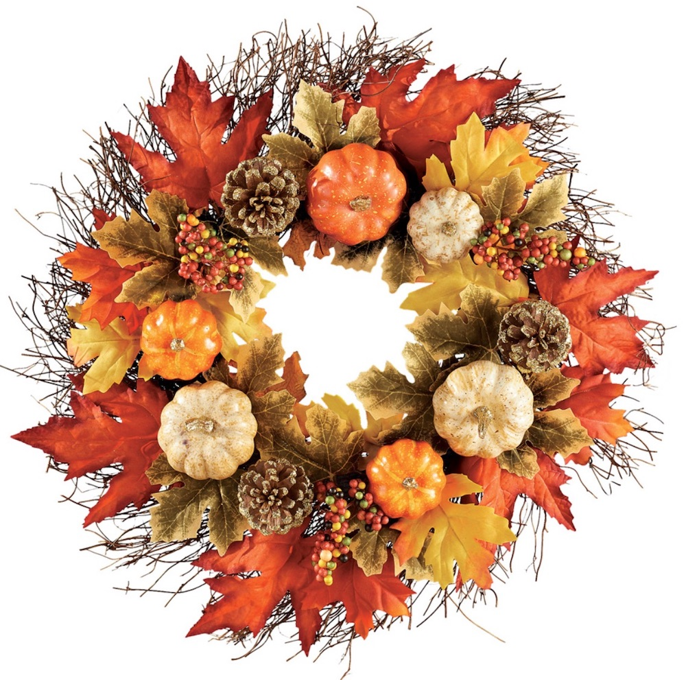 Farmhouse Fall Wreaths to Welcome Guests Rustic Pumpkin Pine Cone Wreath #Farmhouse #FarmhouseDecor #FarmhouseWreaths #RusticWreaths #CountryLiving #FallWreaths #AutumnWreaths