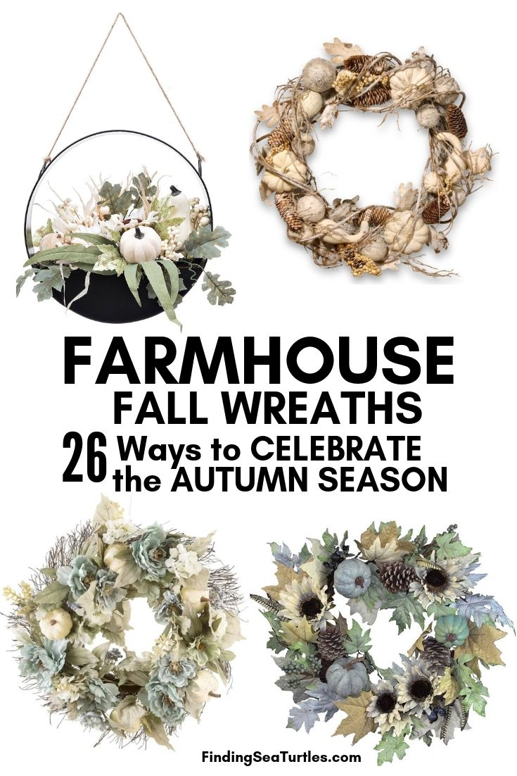 FARMHOUSE FALL WREATHS 26 Ways To CELEBRATE The AUTUMN SEASON #Farmhouse #FarmhouseDecor #FarmhouseWreaths #RusticWreaths #CountryLiving #FallWreaths #AutumnWreaths