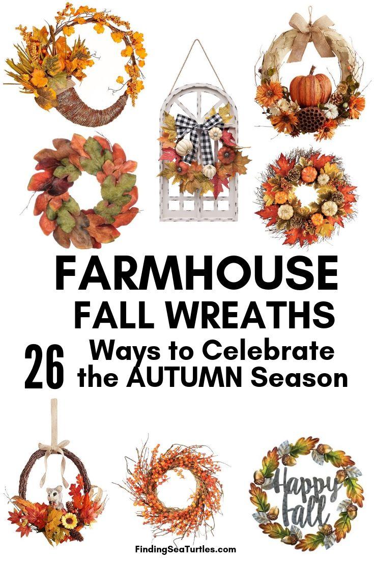 FARMHOUSE FALL WREATHS 26 Ways To Celebrate AUTUMN Season #Farmhouse #FarmhouseDecor #FarmhouseWreaths #RusticWreaths #CountryLiving #FallWreaths #AutumnWreaths