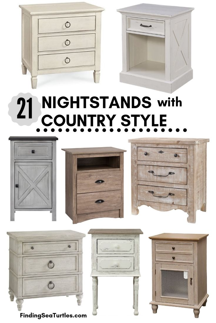 21 Nightstands With Country Style #Farmhouse #NightStands #FarmhouseNightstands #RusticDecor #CountryDecor #FarmhouseDecor #VintageInspired #BedsideTables