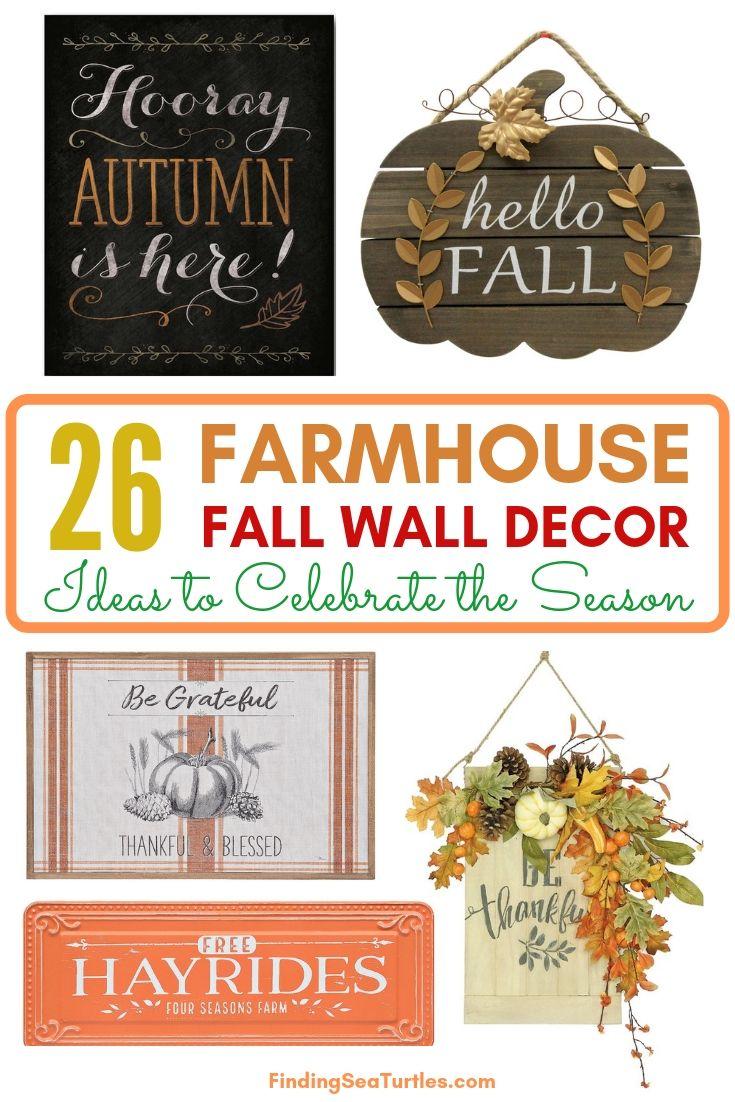 26 FARMHOUSE FALL WALL DECOR Ideas To Celebrate The Season #Farmhouse #FallWallDecor #FarmhouseWallDecor #RusticDecor #CountryDecor #FallDecor #AutumnDecor #FallWallArt