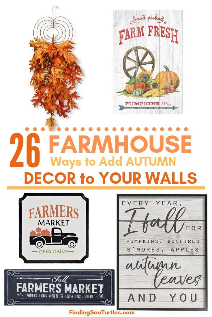 26 Farmhouse Ways To Add Autumn Decor To Your Walls #Farmhouse #FallWallDecor #FarmhouseWallDecor #RusticDecor #CountryDecor #FallDecor #AutumnDecor #FallWallArt