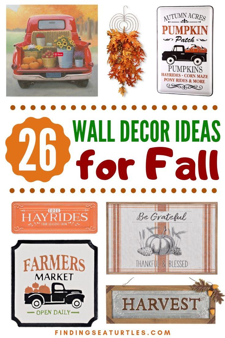 26 WALL DECOR IDEAS For Fall #Farmhouse #FallWallDecor #FarmhouseWallDecor #RusticDecor #CountryDecor #FallDecor #AutumnDecor #FallWallArt