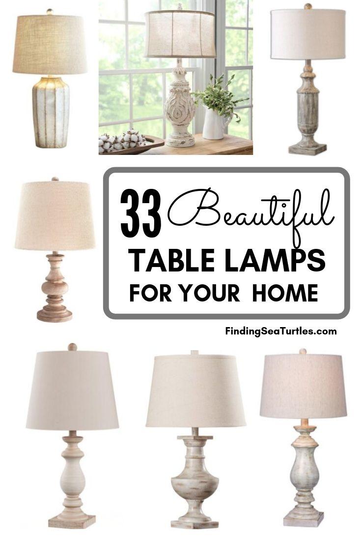 33 Beautiful TABLE LAMPS FOR YOUR HOME #Farmhouse #FarmhouseTableLamps #FarmhouseLighting #RusticDecor #CountryDecor #FarmhouseDecor