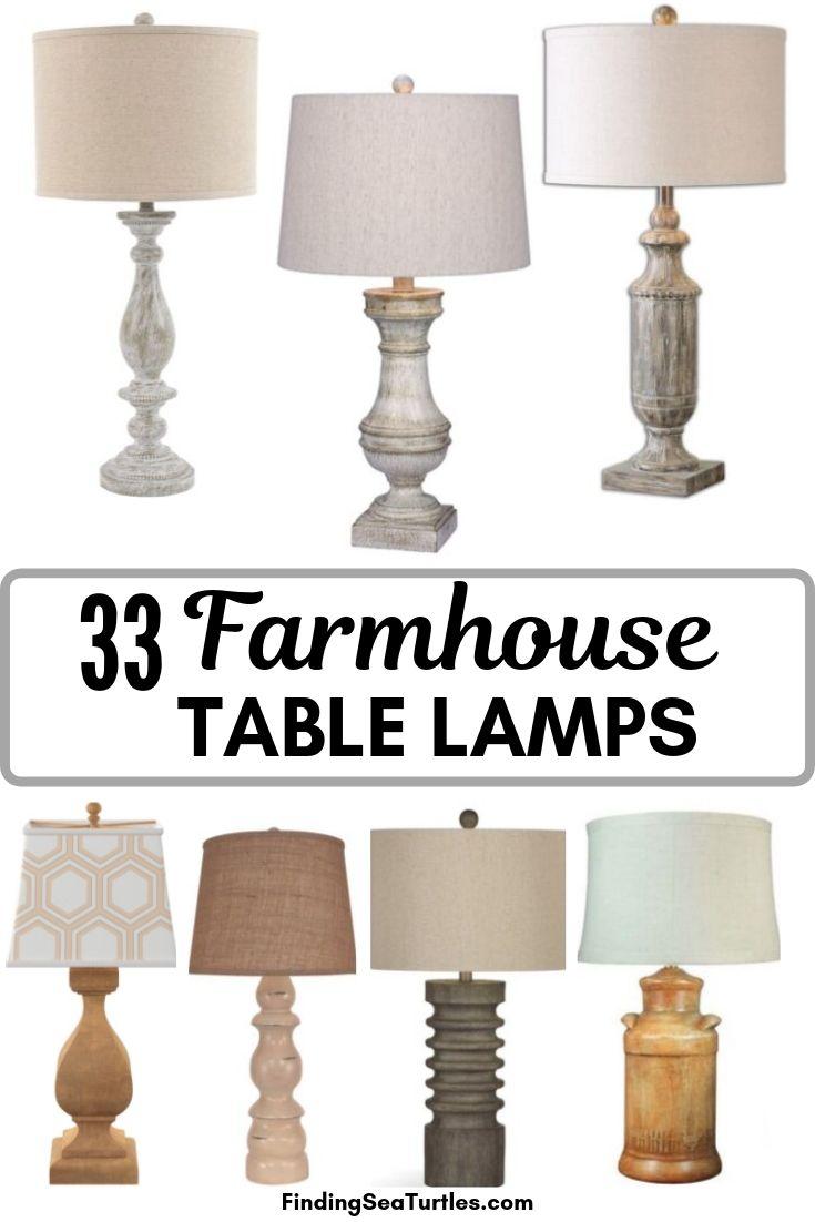 33 Farmhouse TABLE LAMPS #Farmhouse #FarmhouseTableLamps #FarmhouseLighting #RusticDecor #CountryDecor #FarmhouseDecor