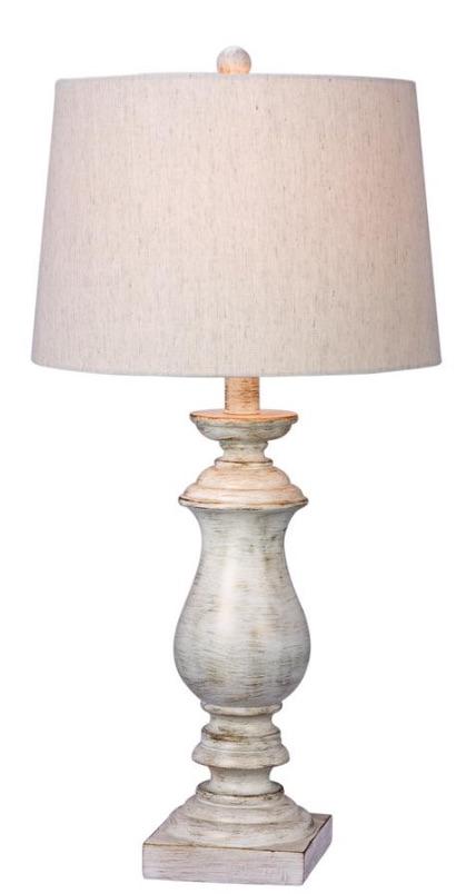 33 Simple Farmhouse Table Lamps Fangio White Resin Table Lamp #Farmhouse #FarmhouseTableLamps #FarmhouseLighting #RusticDecor #CountryDecor #FarmhouseDecor