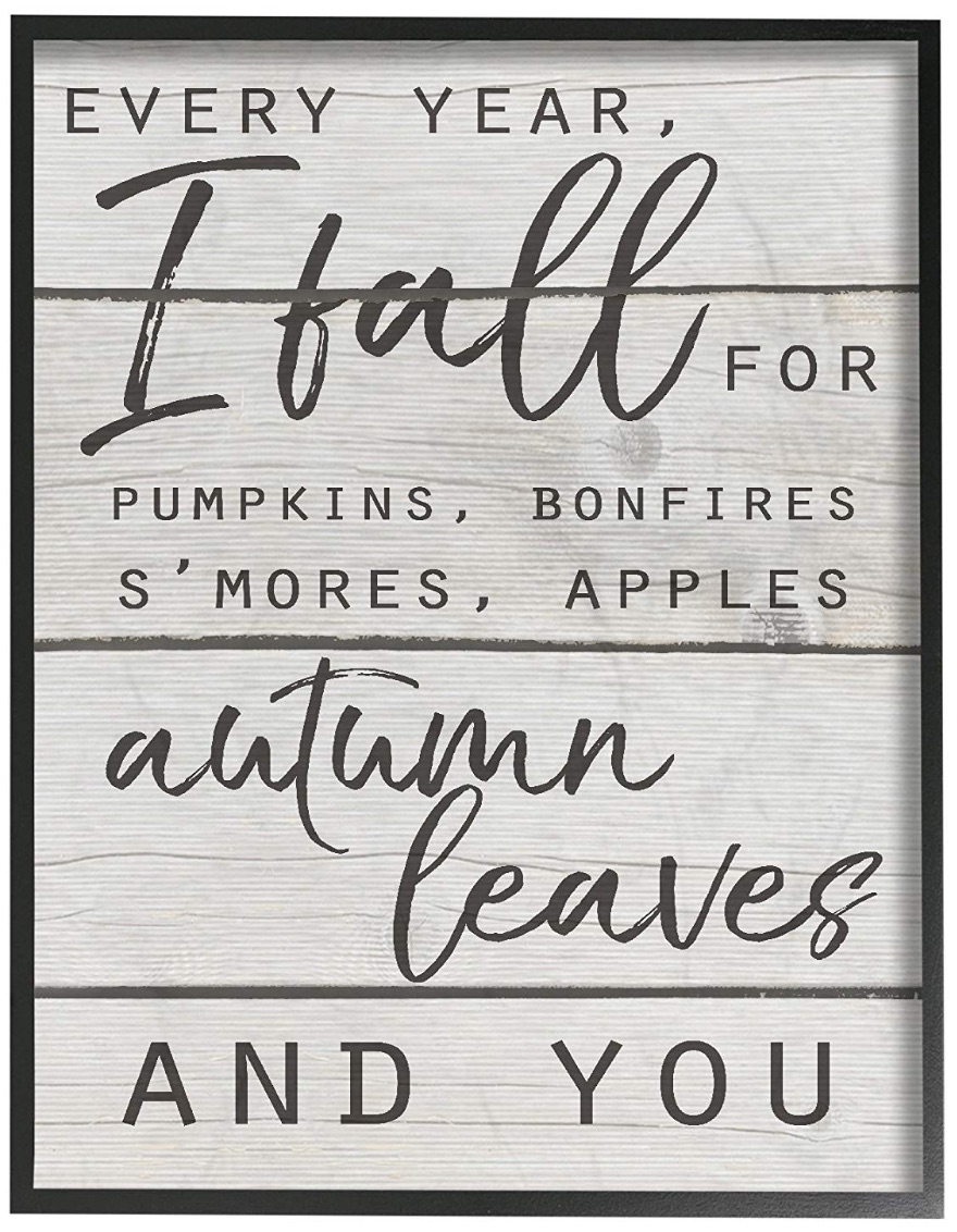 Farmhouse Fall Wall Decor to Welcome Autumn Every Year I Fall For You Art Work #Farmhouse #FallWallDecor #FarmhouseWallDecor #RusticDecor #CountryDecor #FallDecor #AutumnDecor #FallWallArt