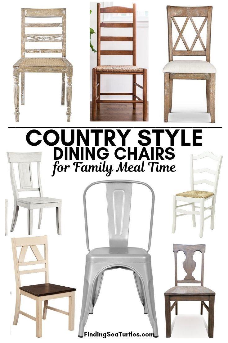 COUNTRY STYLE Dining Chairs For Family Meal Time #Farmhouse #Chairs #FarmhouseChairs #RusticDecor #CountryDecor #FarmhouseDecor #VintageInspired #DiningChairs #FamilyDinners #FamilyMeals #FamilyTime
