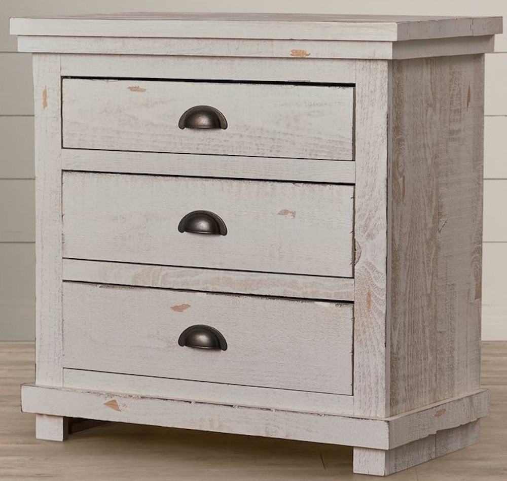 21 Farmhouse Nightstands for Nighttime Necessities Castagnier Drawer Nightstand #Farmhouse #NightStands #FarmhouseNightstands #RusticDecor #CountryDecor #FarmhouseDecor #VintageInspired #BedsideTables