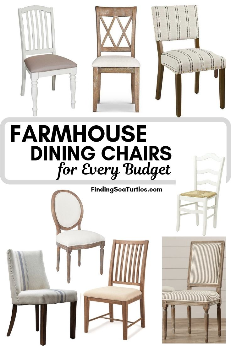 FARMHOUSE DINING CHAIRS For Every Budget #Farmhouse #Chairs #FarmhouseChairs #RusticDecor #CountryDecor #FarmhouseDecor #VintageInspired #DiningChairs #FamilyDinners #FamilyMeals #FamilyTime