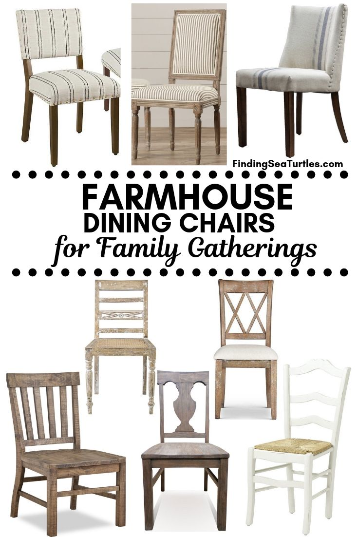 FARMHOUSE Dining Chairs For Family Gatherings #Farmhouse #Chairs #FarmhouseChairs #RusticDecor #CountryDecor #FarmhouseDecor #VintageInspired #DiningChairs #FamilyDinners #FamilyMeals #FamilyTime