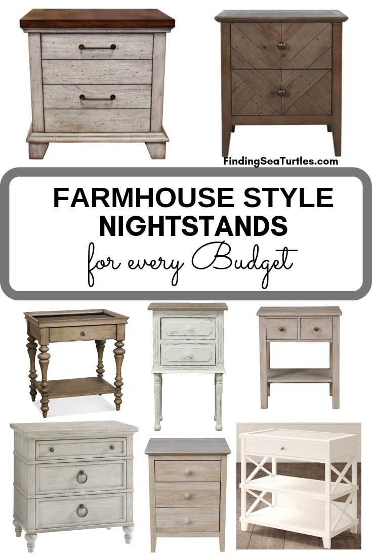 FARMHOUSE STYLE NIGHTSTANDS For Every Budget #Farmhouse #NightStands #FarmhouseNightstands #RusticDecor #CountryDecor #FarmhouseDecor #VintageInspired #BedsideTables