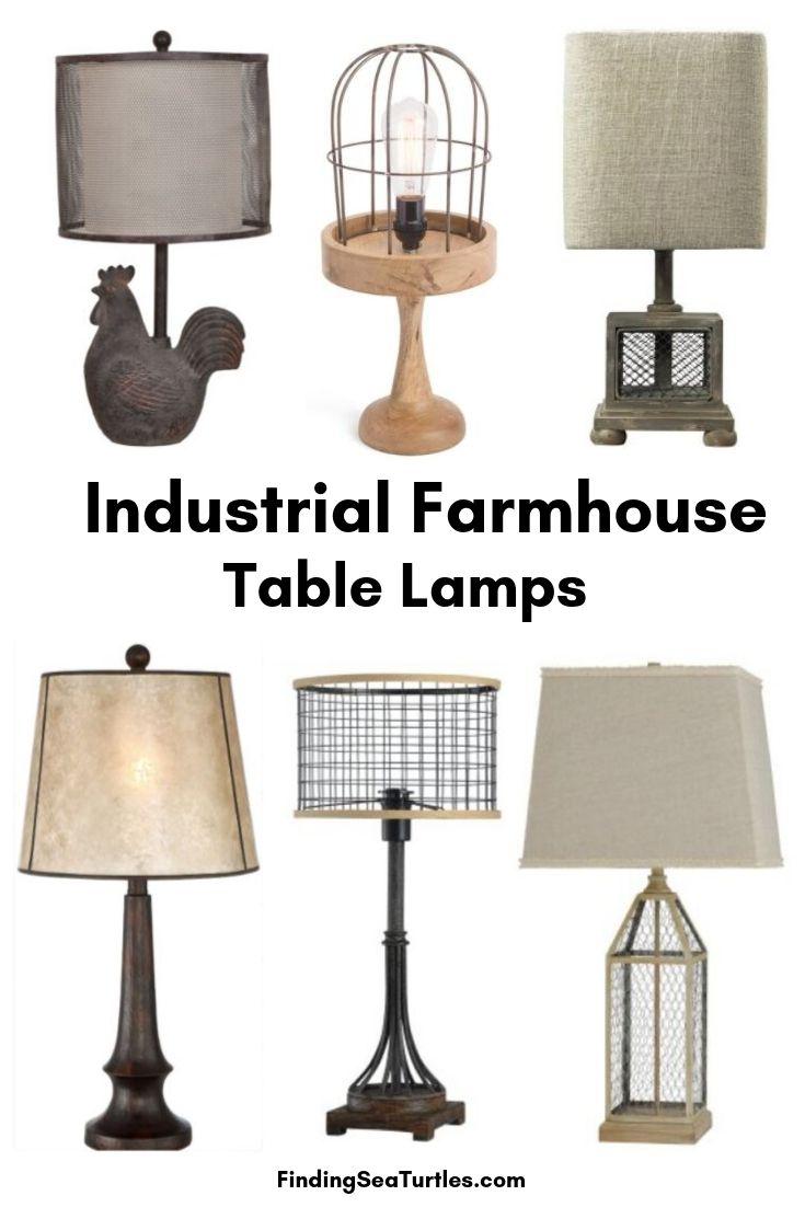 Industrial Farmhouse Table Lamps #Farmhouse #FarmhouseTableLamps #FarmhouseLighting #RusticDecor #CountryDecor #FarmhouseDecor