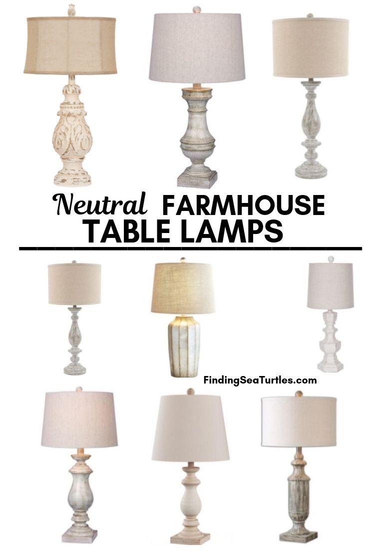 Neutral FARMOUSE TABLE LAMPS #Farmhouse #FarmhouseTableLamps #FarmhouseLighting #RusticDecor #CountryDecor #FarmhouseDecor