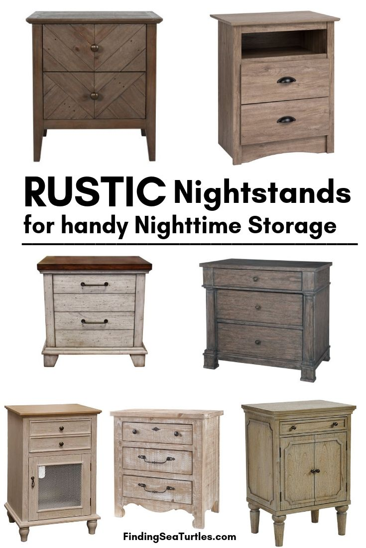 RUSTIC Nightstands For Handy Nighttime Storage #Farmhouse #NightStands #FarmhouseNightstands #RusticDecor #CountryDecor #FarmhouseDecor #VintageInspired #BedsideTables