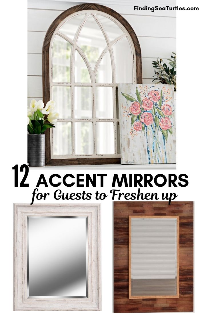 12 ACCENT MIRRORS For Guests To Freshen Up #DecorativeMirrors #Mirrors #AccentMirrors #Decor #VintageDecor #FarmhouseDecor #RusticDecor #IndustrialDecor