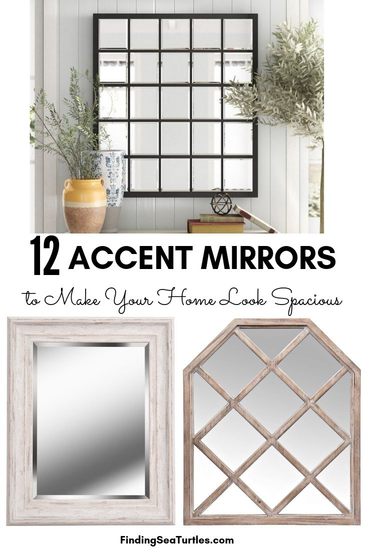 12 ACCENT MIRRORS To Make Your Home Look Spacious #DecorativeMirrors #Mirrors #AccentMirrors #Decor #VintageDecor #FarmhouseDecor #RusticDecor #IndustrialDecor