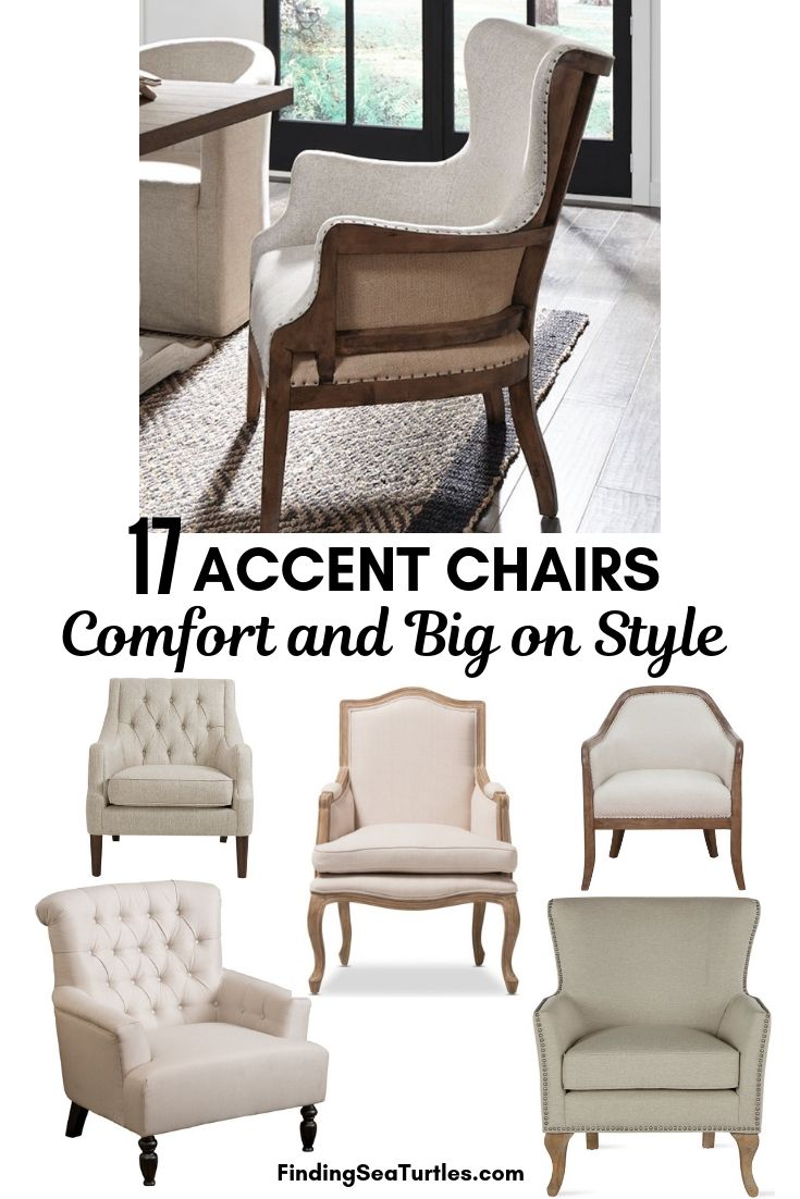 17 ACCENT CHAIRS Comfort And Big On Style #Chairs #AccentChairs #Decor #VintageDecor #FarmhouseDecor #NeutralDecor #Furniture