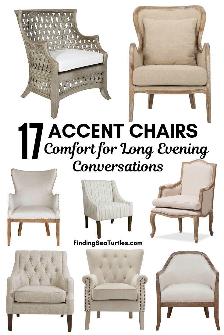 17 ACCENT CHAIRS Comfort For Long Evening Conversations #Chairs #AccentChairs #Decor #VintageDecor #FarmhouseDecor #NeutralDecor #Furniture