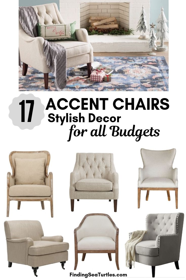 17 ACCENT CHAIRS Stylish Decor For All Budgets #Chairs #AccentChairs #Decor #VintageDecor #FarmhouseDecor #NeutralDecor #Furniture