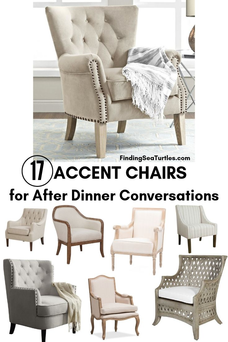 17 ACCENT CHAIRS For After Dinner Conversations #Chairs #AccentChairs #Decor #VintageDecor #FarmhouseDecor #NeutralDecor #Furniture