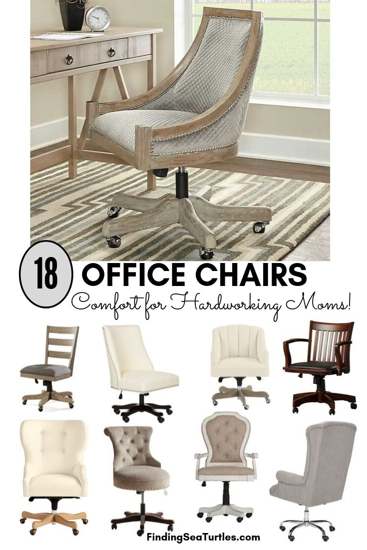 Image of: 18 Modern Farmhouse Office Chairs For Your Workspace Finding Sea Turtles