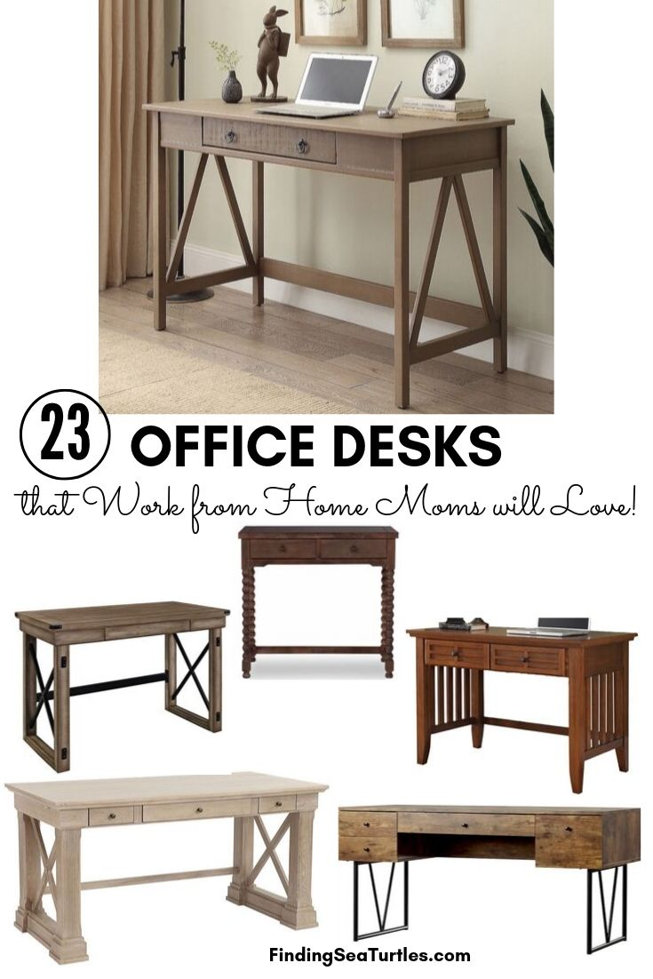 23 OFFICE DESKS that Work from Home Moms will Love #Desks #HomeOffice #HomeOfficeDesks #Farmhouse #Decor #VintageDecor #FarmhouseDecor #IndustrialDecor #WorkingMoms #WorkFromHome