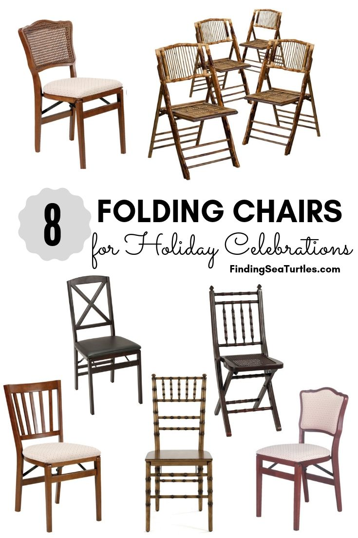8 FOLDING CHAIRS For Holiday Celebrations #FoldingChairs #DinnerTime #FamilyDinners #HolidayMeals #Entertaining #Celebrations