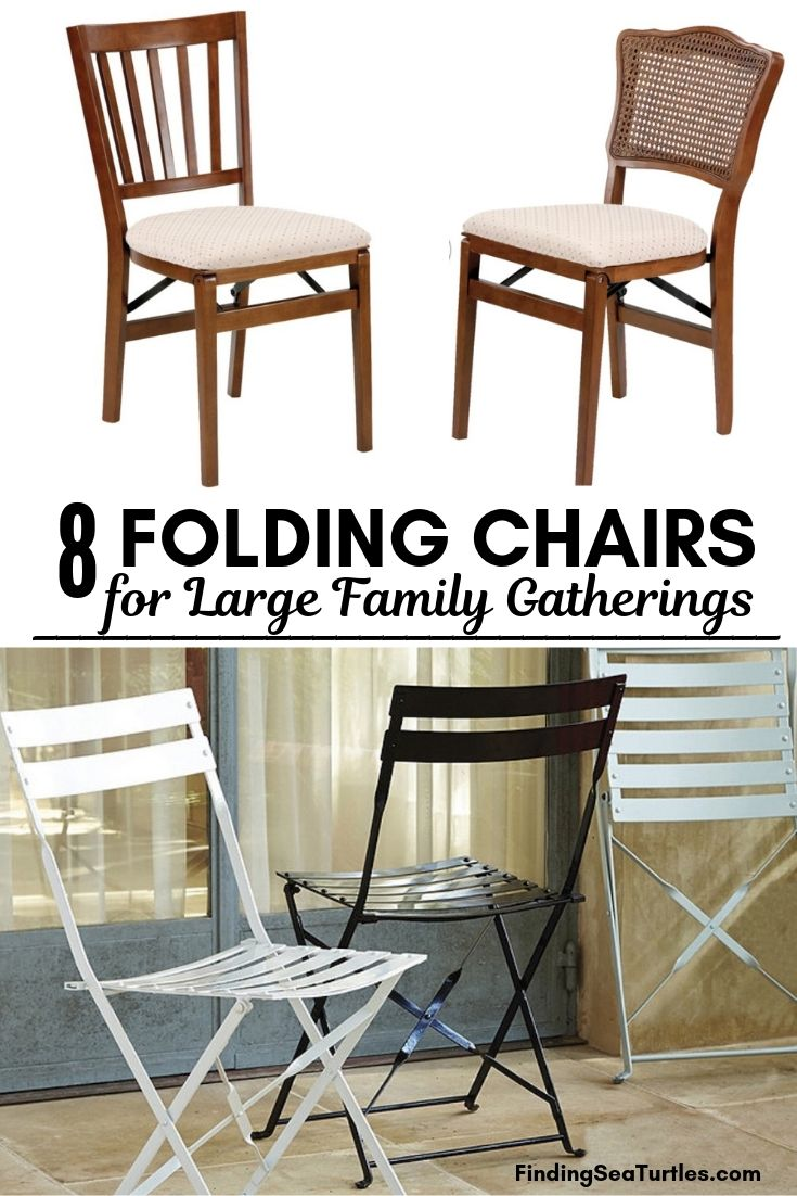 8 FOLDING CHAIRS For Large Family Gatherings #FoldingChairs #DinnerTime #FamilyDinners #HolidayMeals #Entertaining #Celebrations