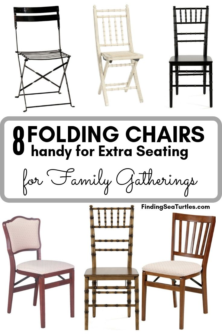 8 FOLDING CHAIRS Handy For Extra Seating For Family Gatherings #FoldingChairs #DinnerTime #FamilyDinners #HolidayMeals #Entertaining #Celebrations