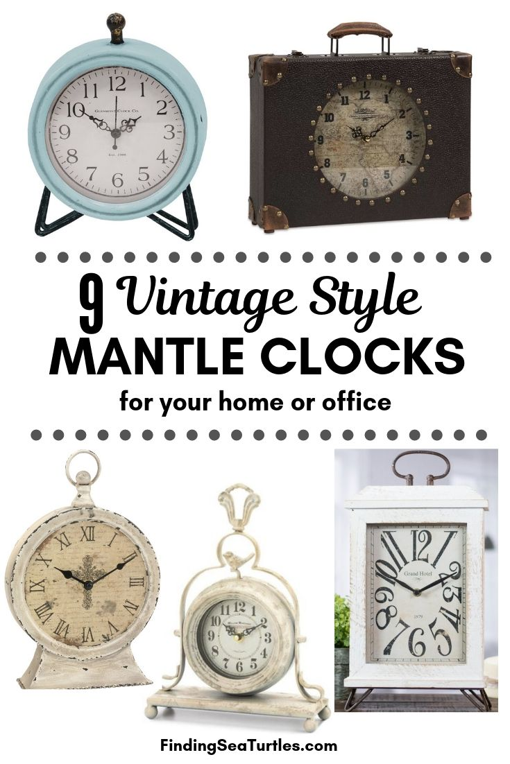 9 Vintage Style MANTLE CLOCKS For Your Home Or Office #Clocks #MantleClocks #Timepiece #TableTopDecor #Decor