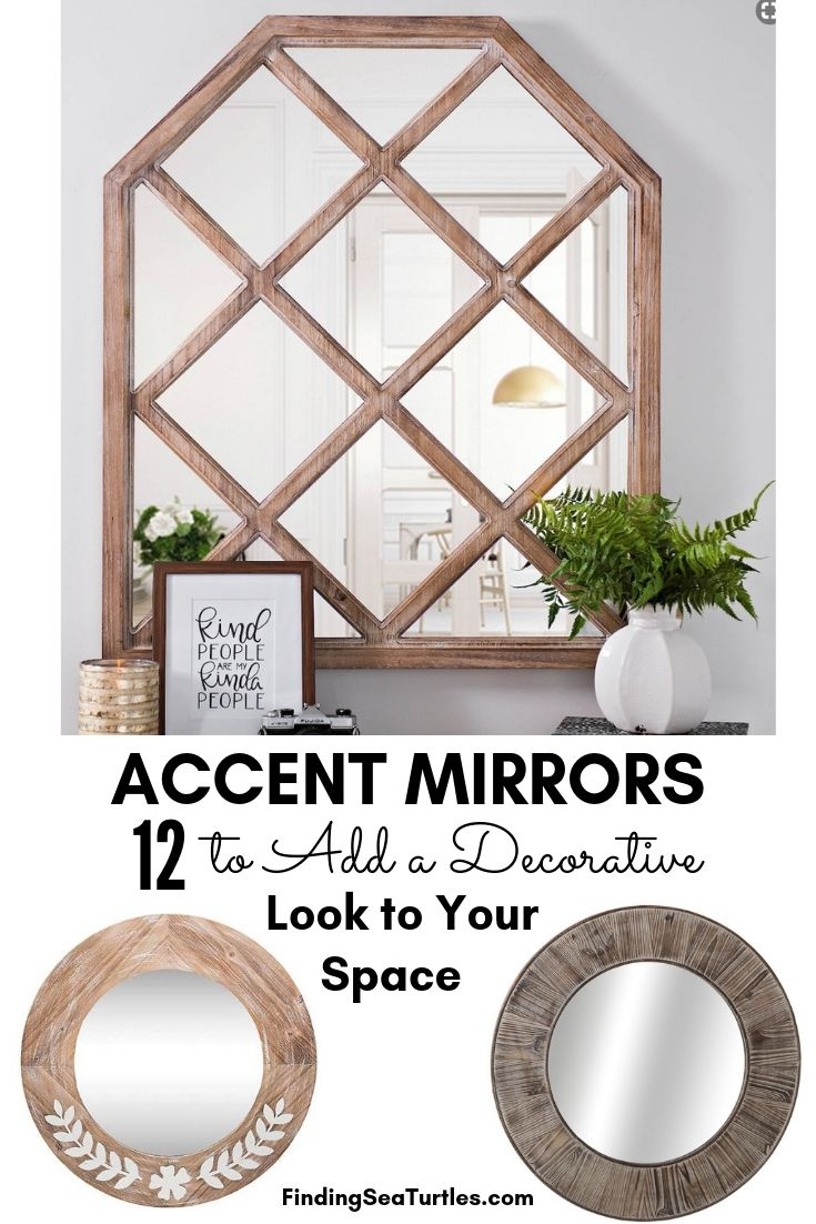 ACCENT MIRRORS 12 To Add A Decorative Look To Your Space #DecorativeMirrors #Mirrors #AccentMirrors #Decor #VintageDecor #FarmhouseDecor #RusticDecor #IndustrialDecor