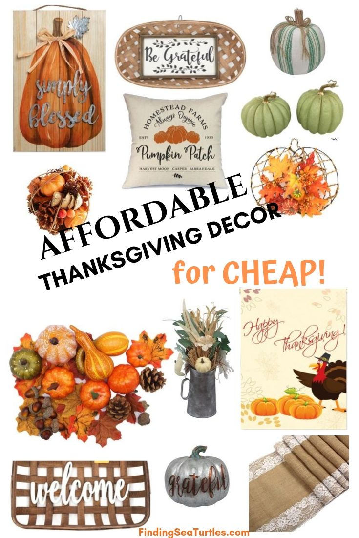 AFFORDABLE THANKSGIVING DECOR for Cheap #Decor #ThanksgivingDecor #AffordableDecor #AffordableFallDecor #CheapThanksgivingDecor #QuickAndEasyDecor #BudgetFriendlyDecor
