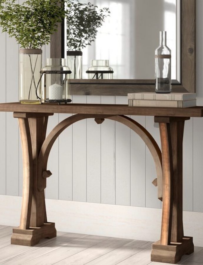 21 Farmhouse Console Tables for Entryways