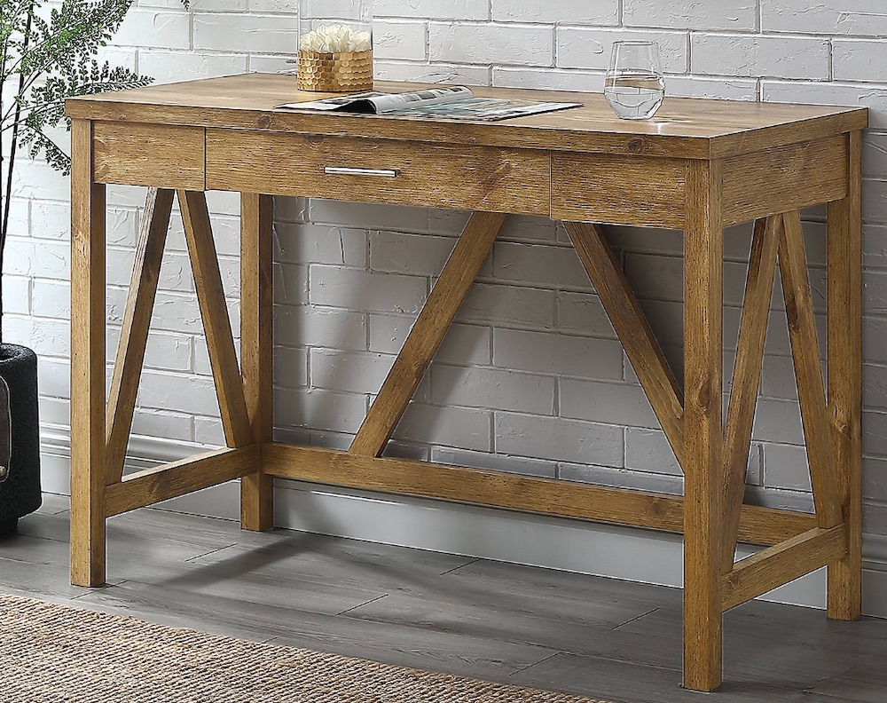 Desks for Industrial and Country Decors Barnwood Farmhouse A-Frame Desk #Desks #HomeOffice #HomeOfficeDesks #Farmhouse #Decor #VintageDecor #FarmhouseDecor #IndustrialDecor #WorkingMoms #WorkFromHome