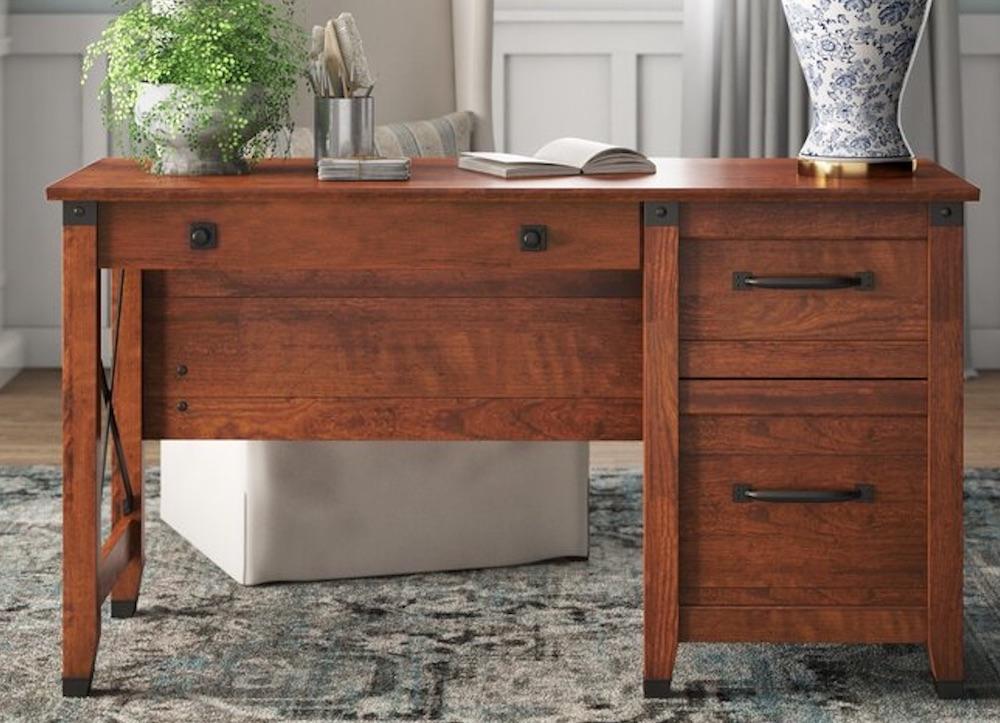 Desks for Industrial and Country Decors Belanger Writing Desk #Desks #HomeOffice #HomeOfficeDesks #Farmhouse #Decor #VintageDecor #FarmhouseDecor #IndustrialDecor #WorkingMoms #WorkFromHome