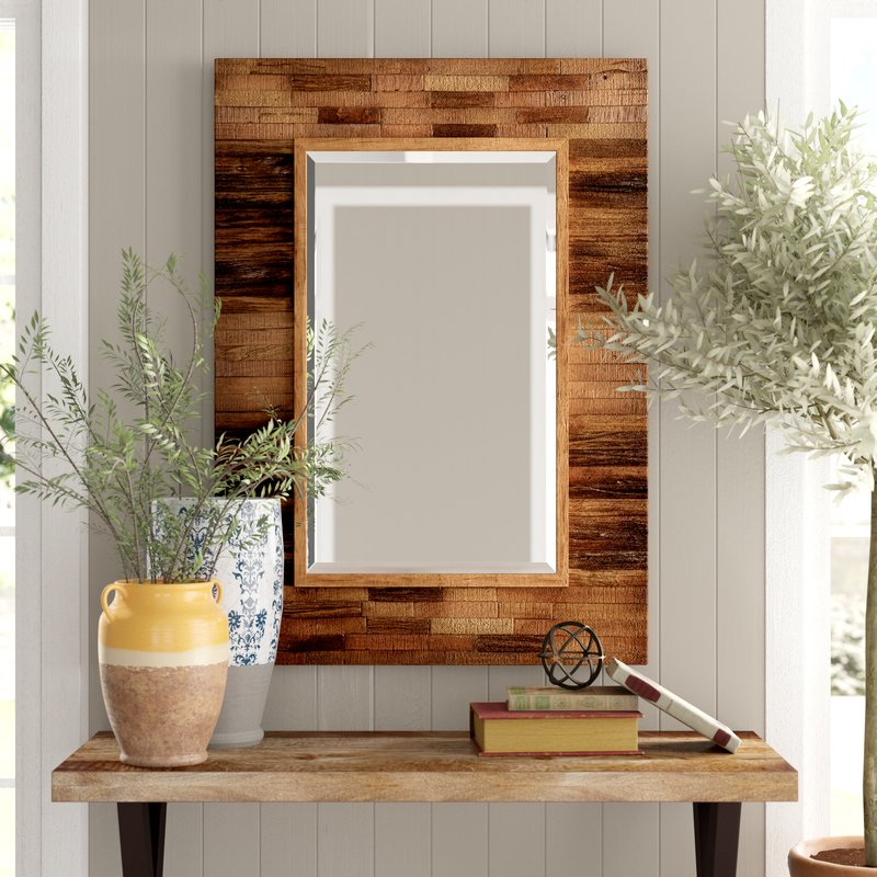 Mirrors with Rustic, Farmhouse Style Booth Reclaimed Wall Mirror #DecorativeMirrors #Mirrors #AccentMirrors #Decor #VintageDecor #FarmhouseDecor #RusticDecor