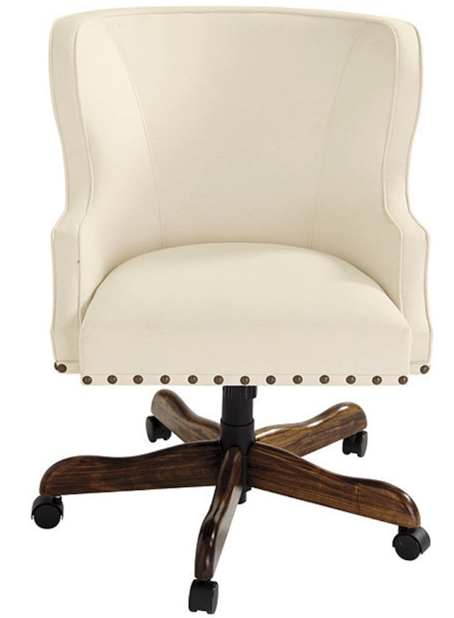Chairs for Your Workspace Carson Desk Chair with Brass Nailheads #DeskChairs #HomeOffice #HomeOfficeDeskChairs #OfficeChairs #Decor #FarmhouseDecor #WorkingMoms #WorkFromHome