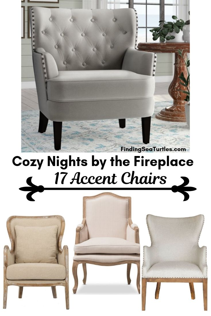 Cozy Nights By The Fireplace 17 Accent Chairs #Chairs #AccentChairs #Decor #VintageDecor #FarmhouseDecor #NeutralDecor #Furniture