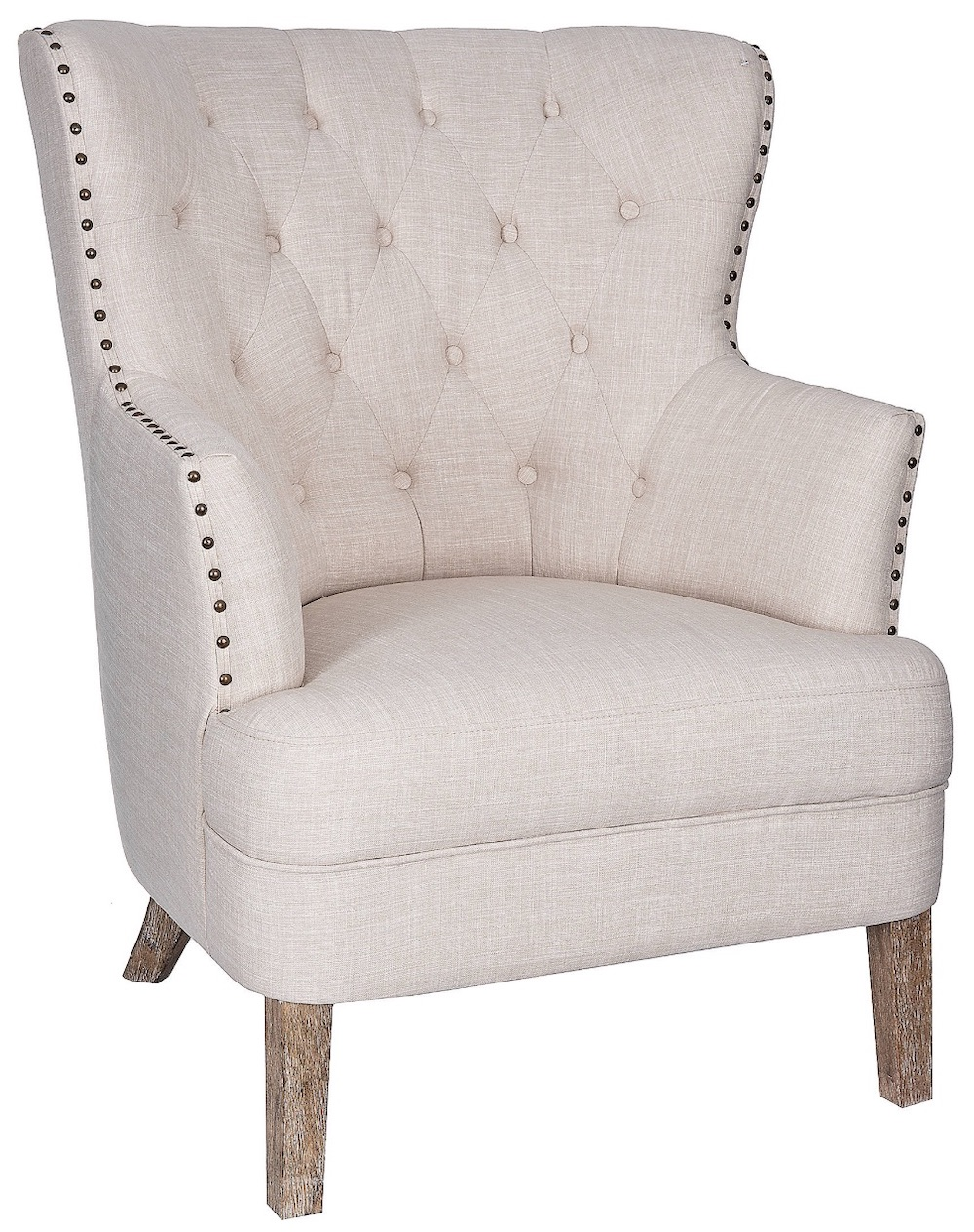 Chairs for Neutral Decors Cream Tufted Accent Chair #Chairs #AccentChairs #Decor #VintageDecor #FarmhouseDecor #NeutralDecor #Furniture