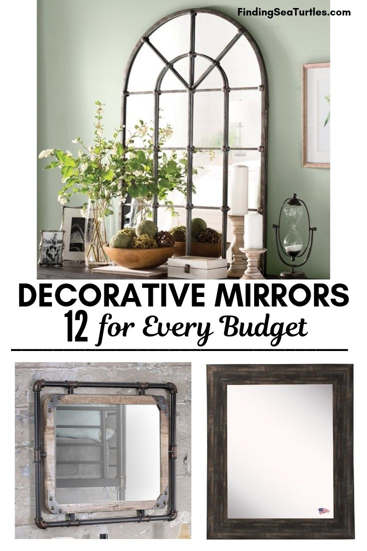 DECORATIVE MIRRORS 12 For Every Budget #DecorativeMirrors #Mirrors #AccentMirrors #Decor #VintageDecor #FarmhouseDecor #RusticDecor #IndustrialDecor