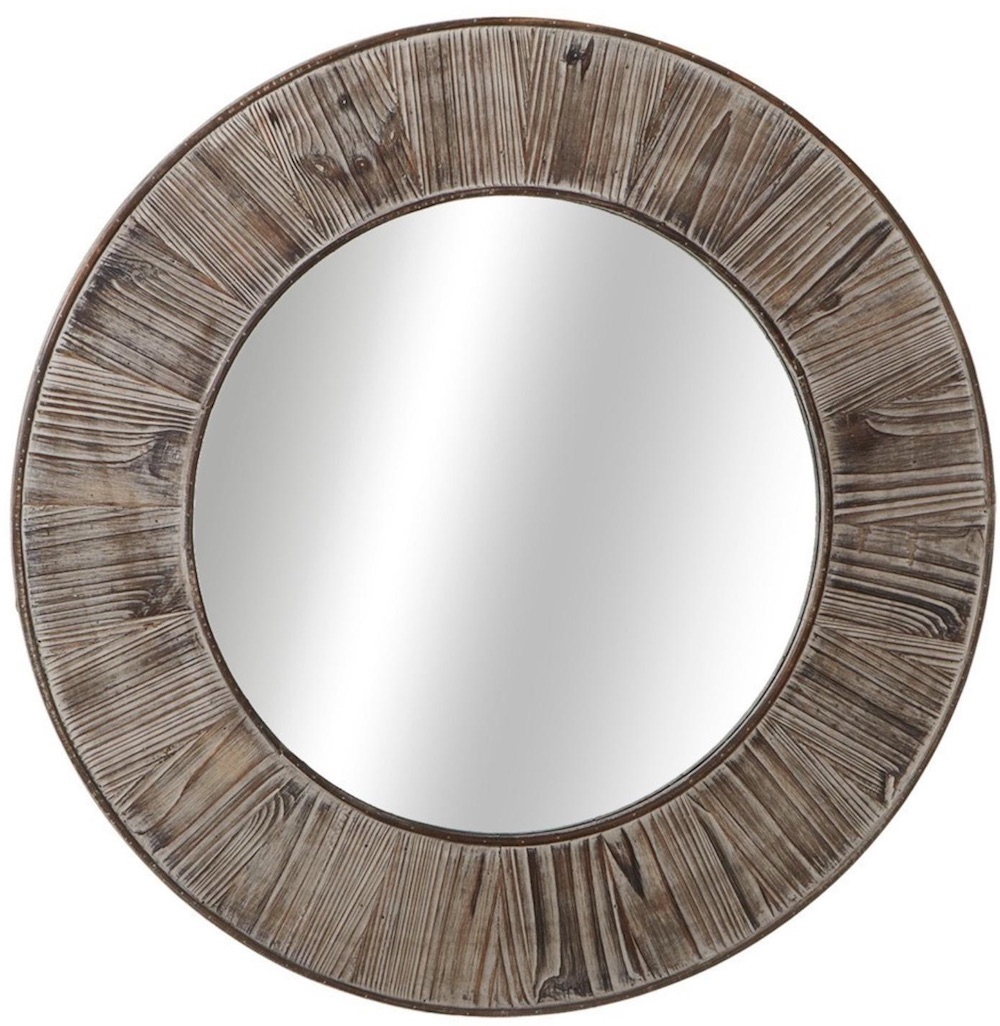 Mirrors with Rustic, Farmhouse Style Decorative Wood Wall Mirror #DecorativeMirrors #Mirrors #AccentMirrors #Decor #VintageDecor #FarmhouseDecor #RusticDecor