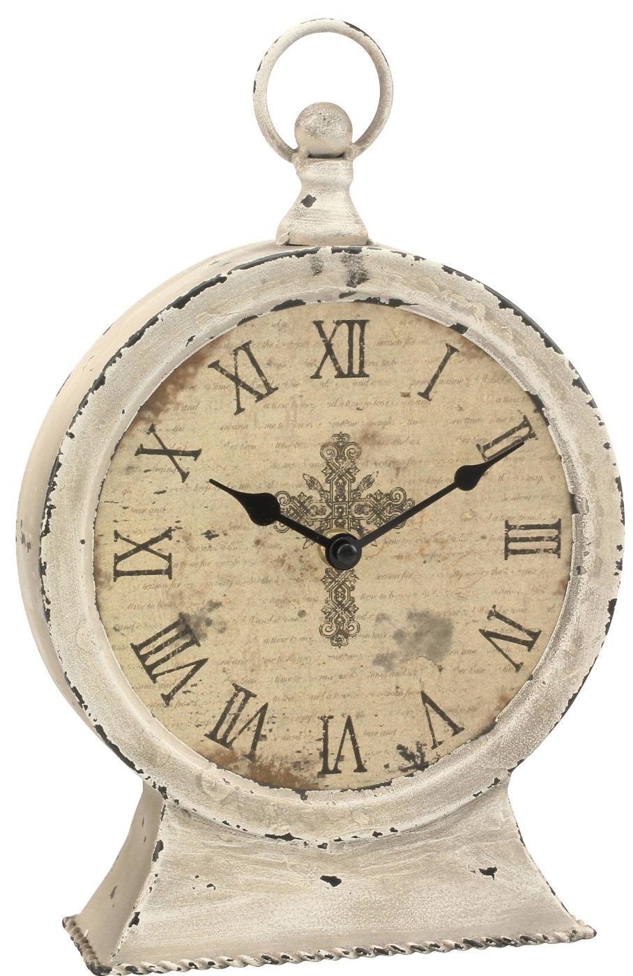 Clocks with Vintage Style Faith Round Tabletop Clock #Clocks #MantleClocks #Timepiece #TableTopDecor #Decor