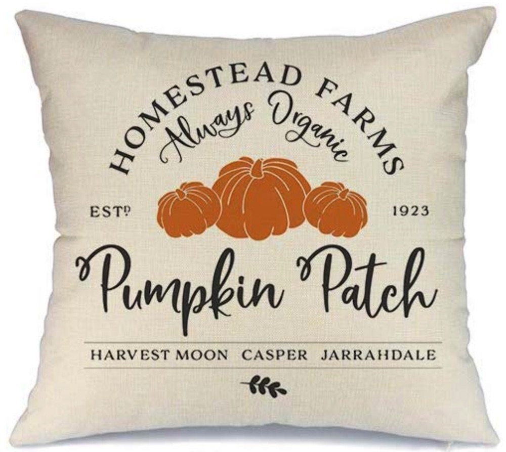Thanksgiving Decorations for a Festive Home Farmhouse Pumpkin Patch Pillow Cover #Decor #ThanksgivingDecor #AffordableDecor #AffordableFallDecor #CheapThanksgivingDecor #QuickAndEasyDecor #BudgetFriendlyDecor