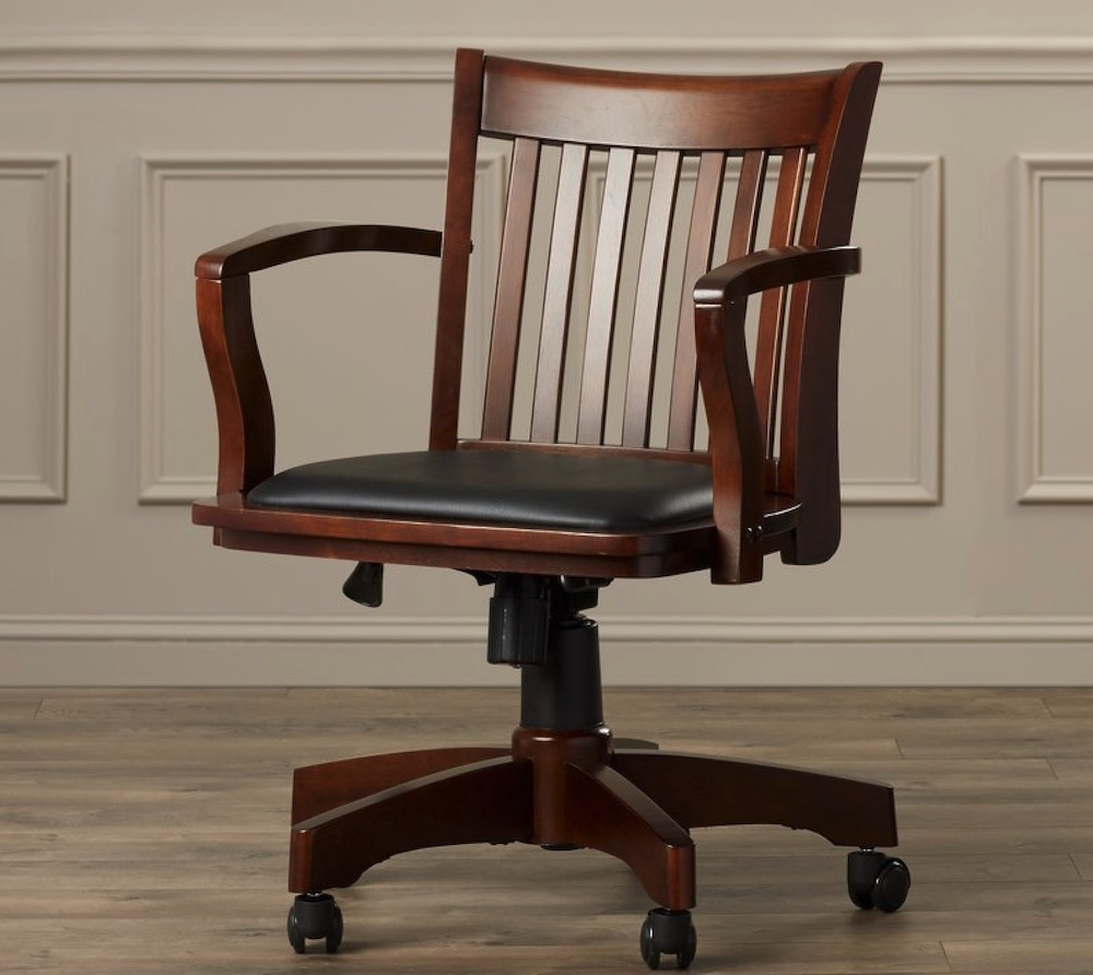Chairs for Your Workspace Genevieve Mid-Back Deluxe Bankers Chair #DeskChairs #HomeOffice #HomeOfficeDeskChairs #OfficeChairs #Decor #FarmhouseDecor #WorkingMoms #WorkFromHome