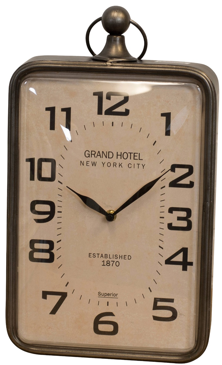 Clocks with Vintage Style Grand Hotel Metal Tabletop Clock #Clocks #MantleClocks #Timepiece #TableTopDecor #Decor