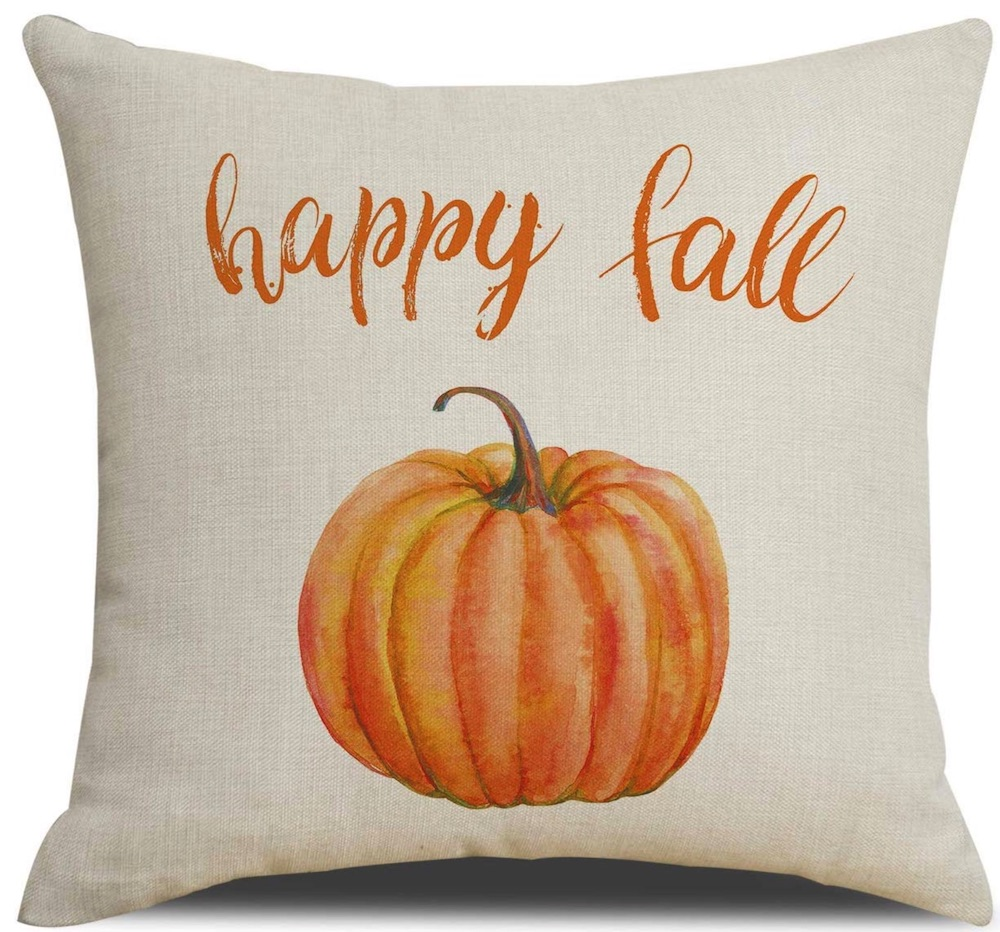 Thanksgiving Decorations for a Festive Home Happy Fall Pumpkin Thanksgiving Pillow Cover #Decor #ThanksgivingDecor #AffordableDecor #AffordableFallDecor #CheapThanksgivingDecor #QuickAndEasyDecor #BudgetFriendlyDecor
