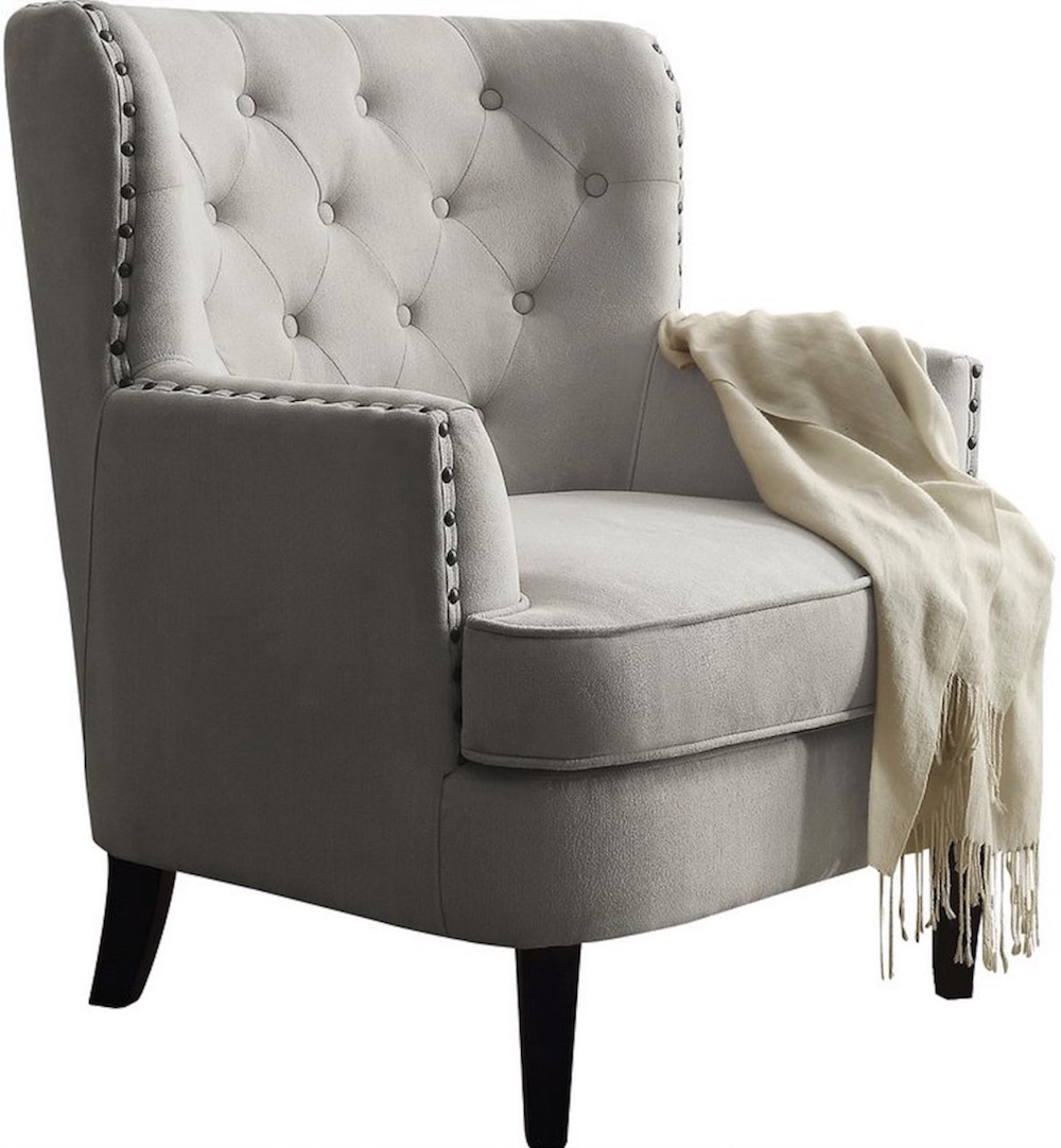Chairs for Neutral Decors Ivo Wingback Chair #Chairs #AccentChairs #Decor #VintageDecor #FarmhouseDecor #NeutralDecor #Furniture